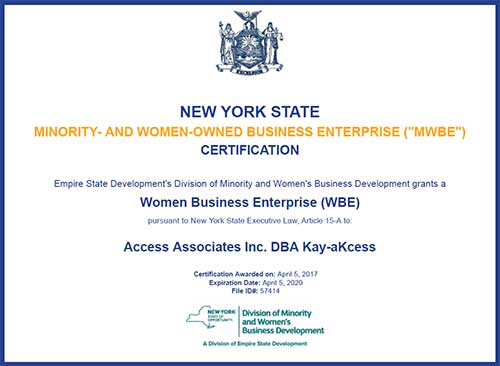 New York Woman Owned Business Certification